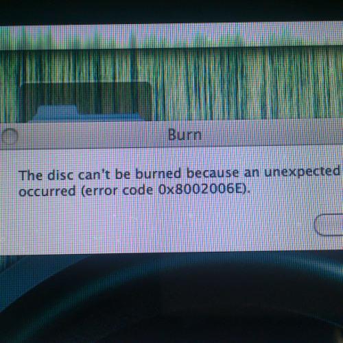 CD burn fail at Born This Way
