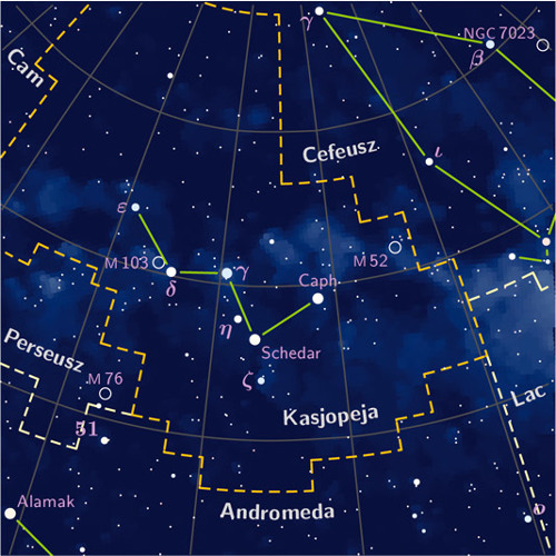 To Cassiopeia constellation