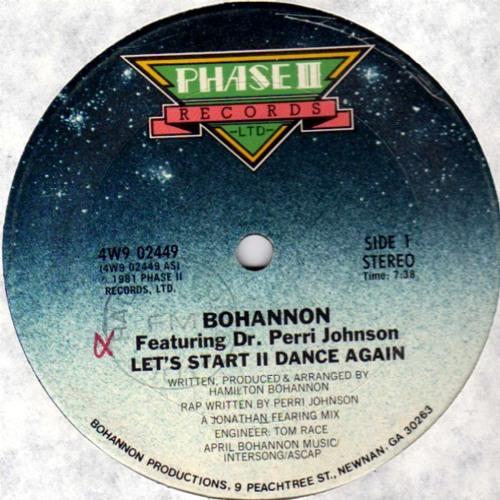 Bohannon & Dr.Perri Johnson ''Let's Start II Dance Again'' 12''