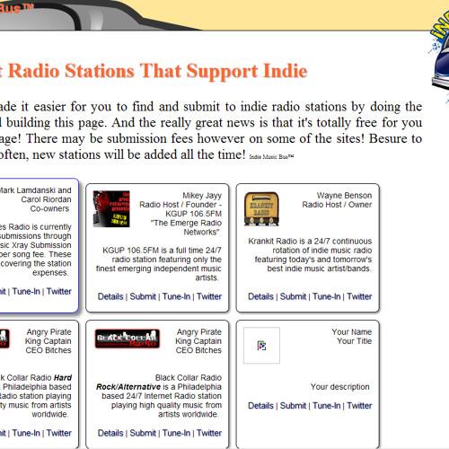 Indie Music Bus™ - Indie Radio Submit Promo by IndieMusicBus