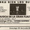 Música de la Gran Flauta - Ultimo capítulo - 1991