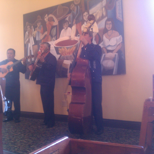 """Sabor a mi"" by the mariachis at Mijares Mexican Restaurant"