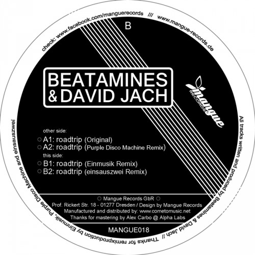 Beatamines & David Jach - Roadtrip (einsauszwei Remix) // Mangue 018