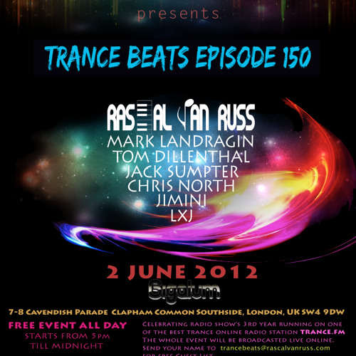 Trance Beats Episode 150 - Yawar Malik Live Recorded from Gigalum, London