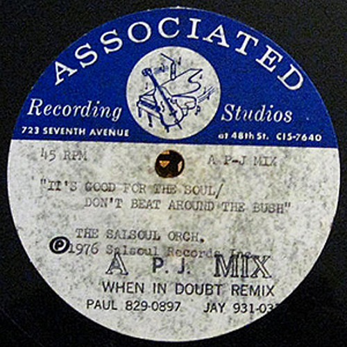 The Salsoul Orchestra ''It's Good For The Soul'' (Acetate Version Revisited) #2 Edit