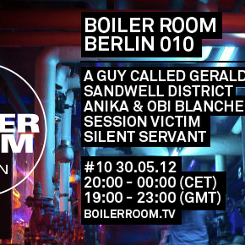 A Guy Called Gerald live in the Boiler Room Berlin