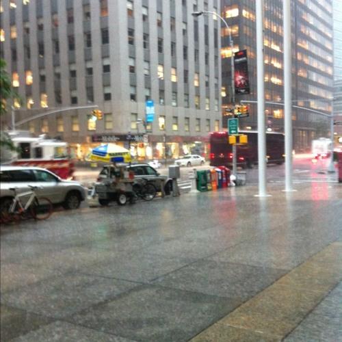 Thunder storm at Wall Street Plaza