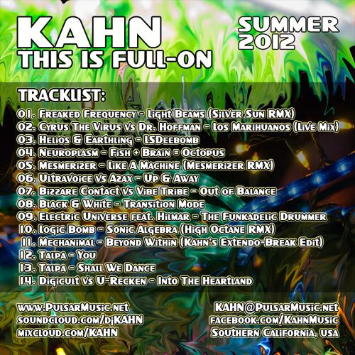 KAHN - This Is Full-On Vol.1 - Summer 2012