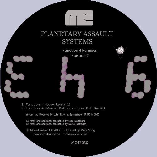 Mote030 :: P.A.S. - Function 4 / Claptalk System (Lucy + Marcel Dettmann + Shifted Remixes)