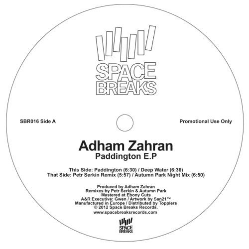 "SBR016 B2 Adham Zahran / Paddington Autumn Park Remix / Space Breaks Records 12"""