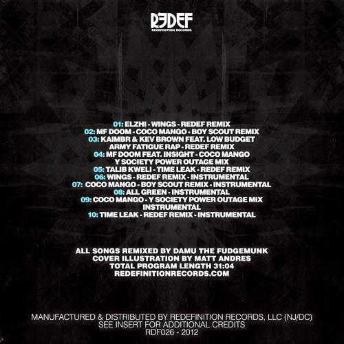 Damu The Fudgemunk - Wings - Redef Remix - INSTRUMENTAL