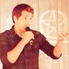 Misha Collins talking about the strip club scene on episode 3 of season 5 of Supernatural