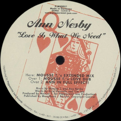 Ann Nesby - Love Is What We Need (Mousse T.'s Love Dub)
