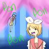 [VOCALOIDカバ��E]PONPONPON[Kagamine Rin feat. Aoki Lapis]