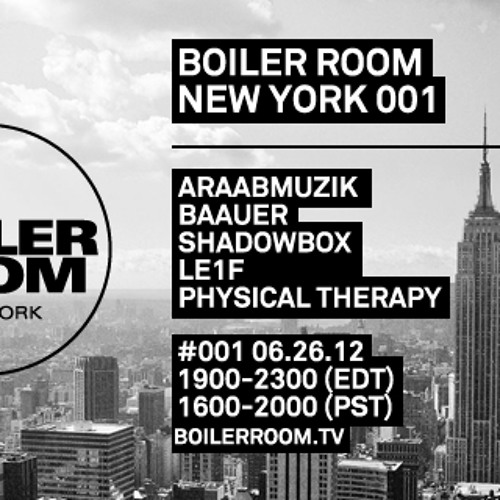 Shadowbox live in the Boiler Room New York