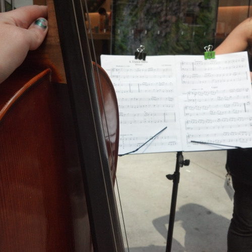 Live Violin/Cello Duet - Busking Telemann at The Magnificent Mile