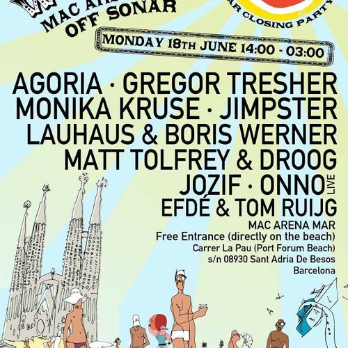 Gregor Tresher @ Off-Sonar Closing, Macarena Mar, Barcelona, 16.06.2012