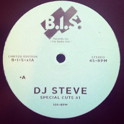 DJ Steve - Special Cuts #1 - B.I.S. Records, Inc. Limited Edition.