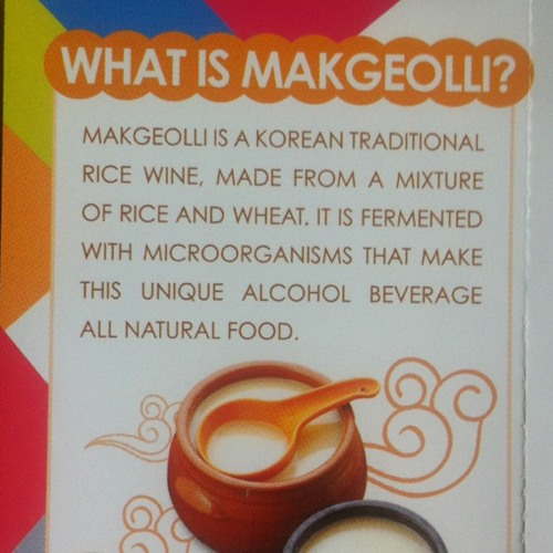 What is Makgeolli?