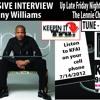 The Lennie Chism Show on KFAI, Tru Magazine Exclusive:  Lenny Williams