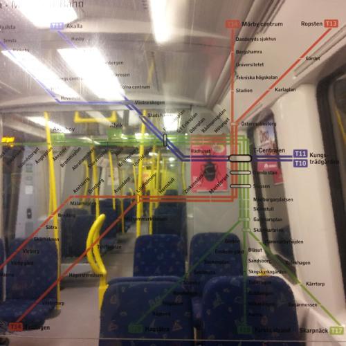 Nästa: Bagarmossen at Tåg mot Skarpnäck