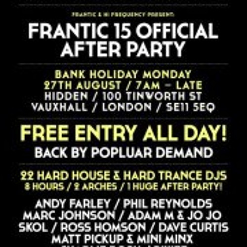 Danny Harris - Frantic 15 After Party Promo