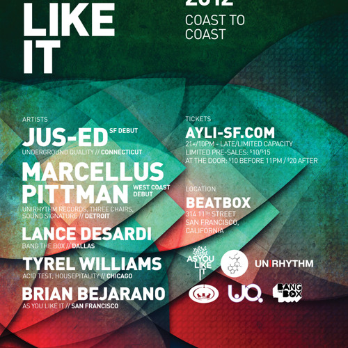 Marcellus Pittman at AYLI Coast to Coast 05/11/12