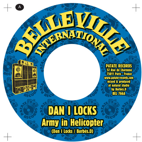 "Barbés.D meets Dan I locks ""Army In Helicopter""  NEW 7 Belleville International"
