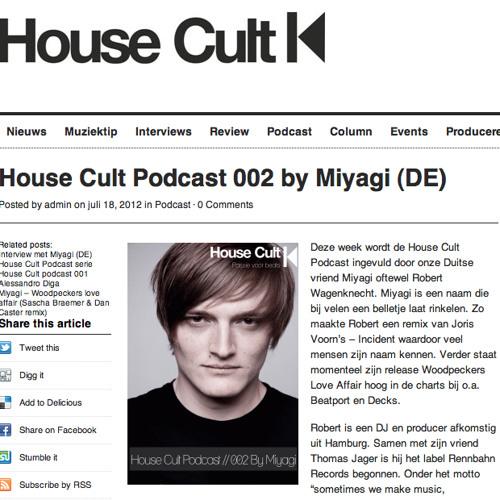 Miyagi - House Cult Podcast 002