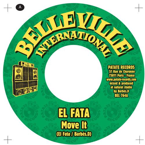 """El Fata meets Barbés.D """"Move It"""" 7 inch / Belleville International"""