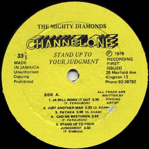 "THE MIGHTY DIAMONDS - ""Jah Will Work It Out"""