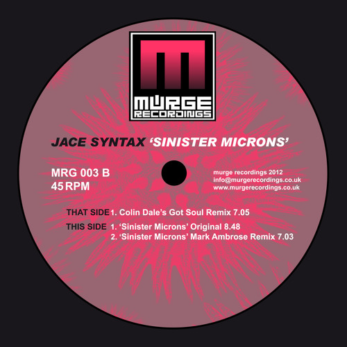 Jace Syntax - Sinister Micron's - ( Original ) - Murge Recordings 003