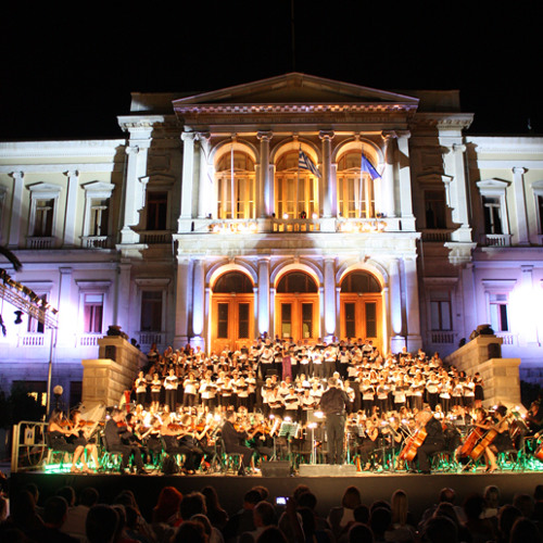 Magnificat anima mea (Rutter) Concert under the stars - Syros 2012