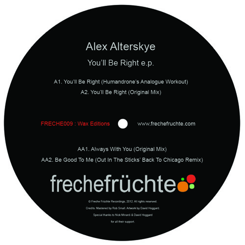 FRECHE009 CLIP Alex Alterskye - You'll Be Right Humandrone's analogue workout) CLIP