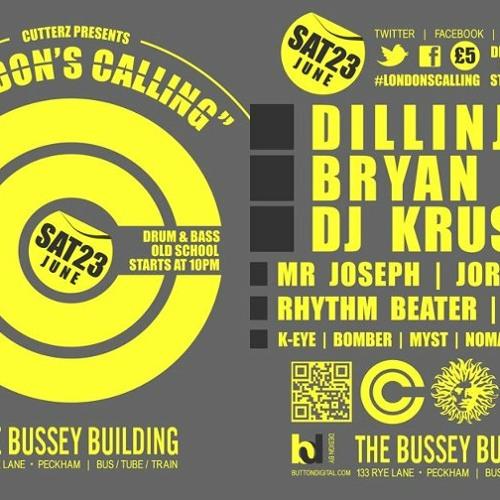 Dillinja @ london's calling the bussey building peckham  june 2012