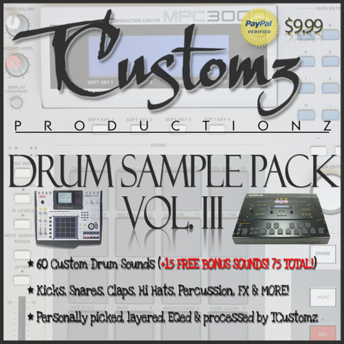 TCustomz Productionz Drum Sample Pack Vol. 3 *DEMO*