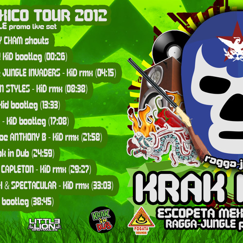 KRAK IN DUB RAGGA JUNGLE PROMO LIVE SET