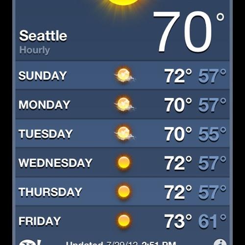 It's always sunny Seattle