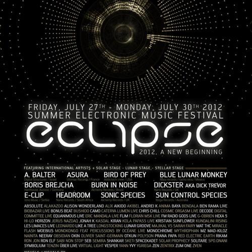 Eclipse festival 29/7/2012 G.O'Brien live dj set