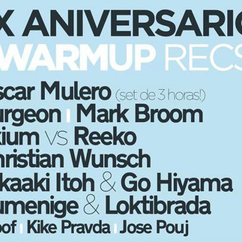 Exium vs Reeko - X Years Warm Up Records - Fabrik (Madrid)23-06-12