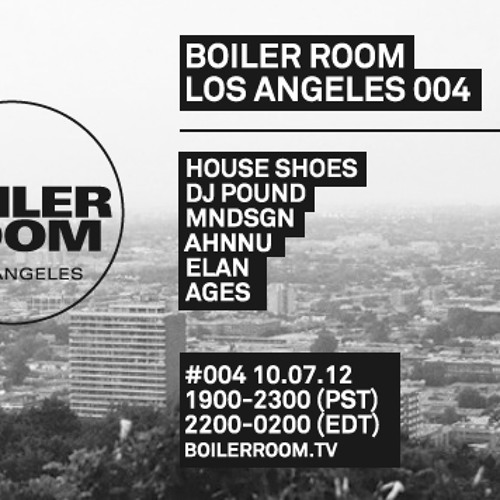eLan LIVE in the Boiler Room Los Angeles