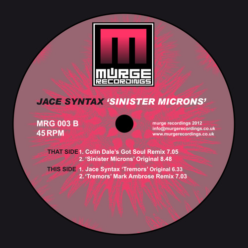 Colin Dale - (Colin's Got Soul Mix) - Sinister Micron's - Murge Recordings 003