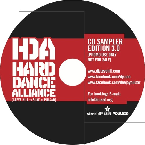[FREE DJ MIX] Hard Dance Alliance 3.0 (Steve Hill vs Suae vs Pulsar)