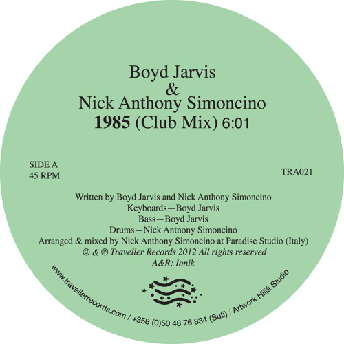 "Boyd Jarvis & Nick Anthony Simoncino - ""1985"" (Club Mix)"