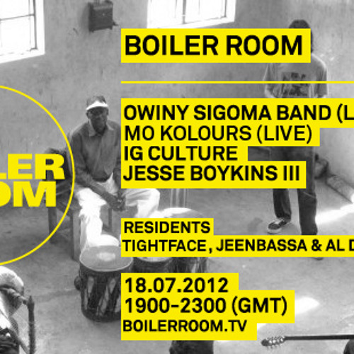 Mo Kolours live in the Boiler Room