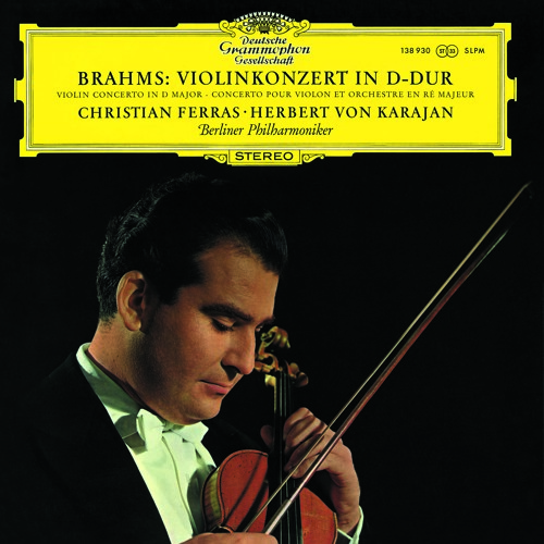 Ferras, Karajan and the Berlin Phil perform Brahms'  Violin Concerto in D op. 77 (1st mvmt)