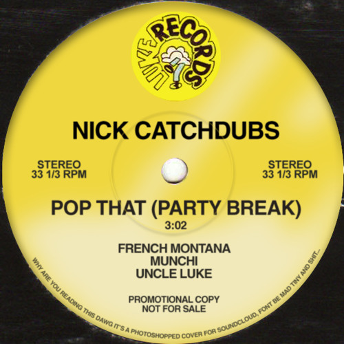 POP THAT PARTY BREAK