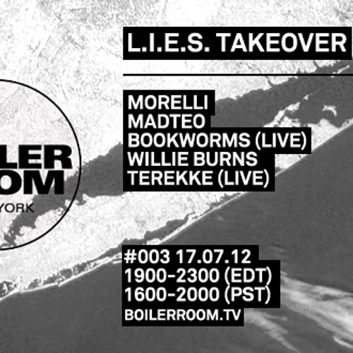 Terekke live in the Boiler Room New York