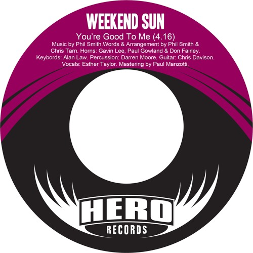 "Weekend Sun ""You're Good To Me (Renegades Of Jazz Remix)"""