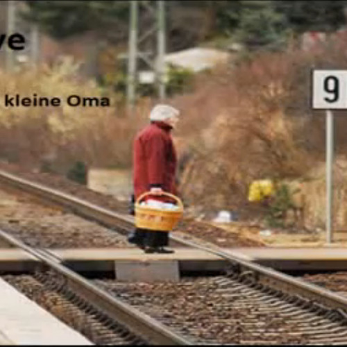 Die kleine Oma - drueben an gleis 9